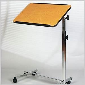 Tisch Für Bett : bett tisch rollbar h henverstellbar 68 115cm holzdekor ~ Yasmunasinghe.com Haus und Dekorationen