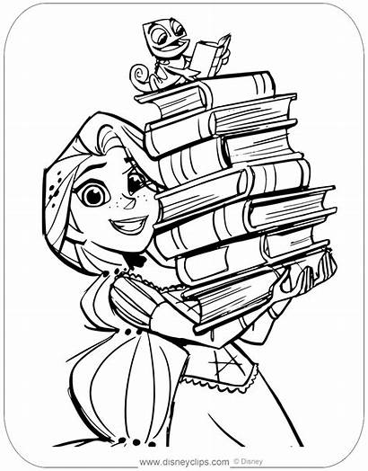 Tangled Coloring Series Rapunzel Pages Pascal Disney