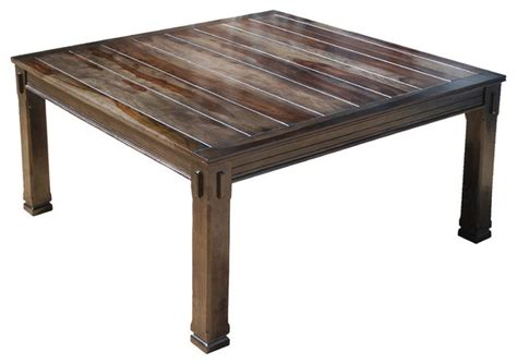 square rustic dining table rustic solid wood transitional 64 quot square dining table for 5674