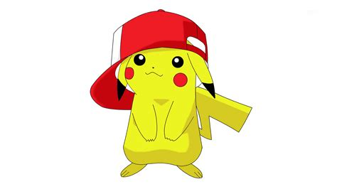 Anime Pikachu Wallpaper - pikachu wearing ash s hat hd wallpaper and background