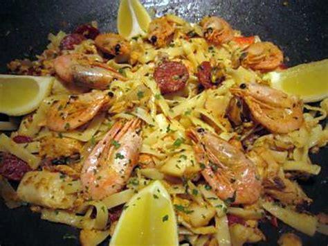 recette de nouilles aux fruits de mer