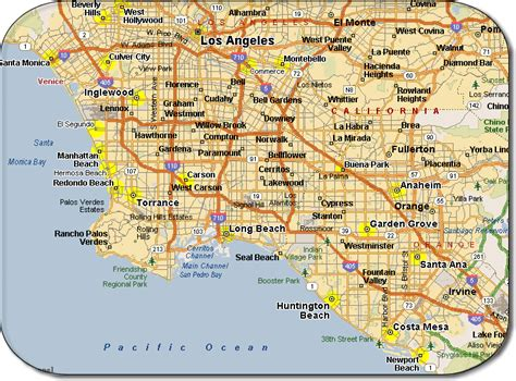 map  los angeles  printable maps