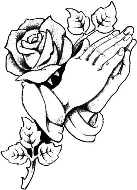 Cultured+Rose+with+Praying+Hands+copy.jpg (452×630) | Roses drawing, Prayer hands tattoo
