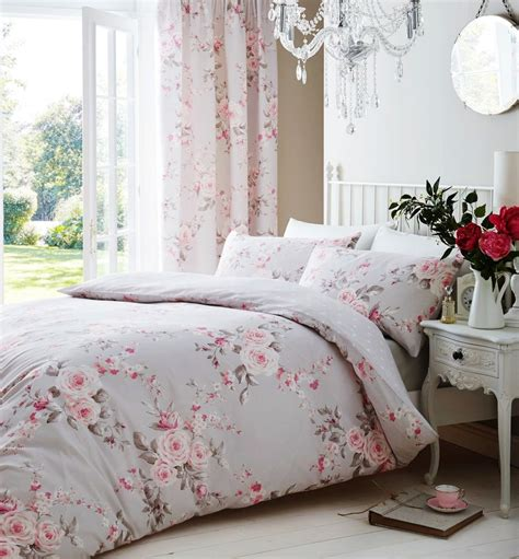 gray and pink comforter set catherine lansfield canterbury grey pink duvet quilt