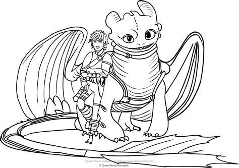 disegni da colorare xy disegno di hiccup e sdentato il drago da colorare con