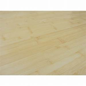 parquet bambou massif a clipser naturel With parquet flottant massif a clipser