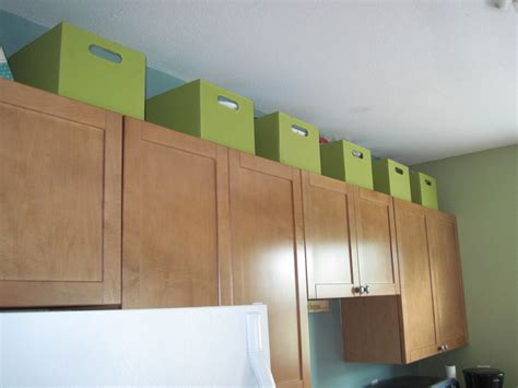 box above kitchen cabinets use the space above kitchen cabinets for storage in 4866