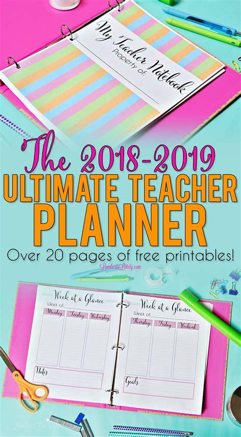 ultimate teacher planner printables planner