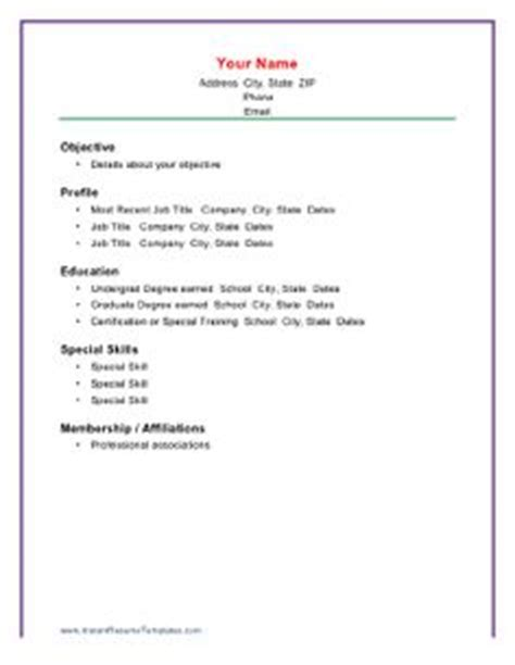 Chronological Resume Builder by 1000 Ideas About Chronological Resume Template On