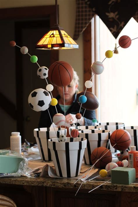 Best 25+ Sports Themed Centerpieces Ideas On Pinterest