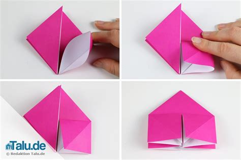 Origami Rose Aus Papier Falten  Diyanleitung Talude