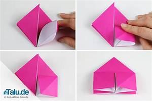 Origami Blumen Falten : origami rose aus papier falten diy anleitung ~ Watch28wear.com Haus und Dekorationen