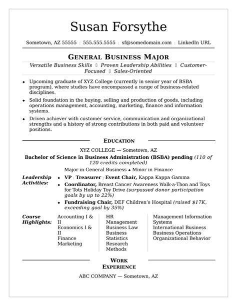 Sle Resume Without Work Experience by How To Write A Resume For An Internship When You