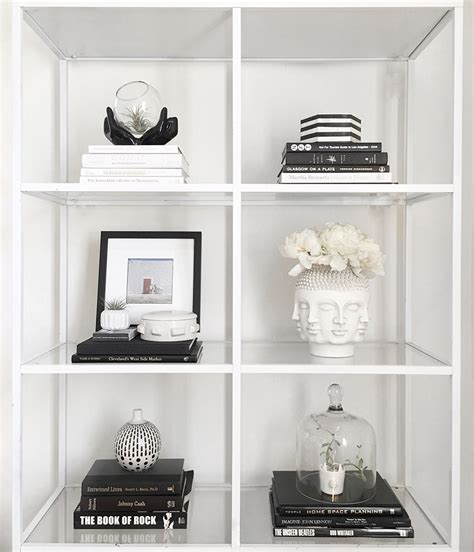 Decor In Black And White by How To Style A Bookshelf With Black White Meg Quinn