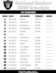 printable nfl schedules images