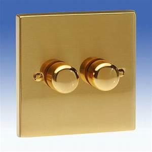 Brass Edwardian Lighting Dimmers