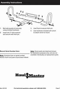 Harbor Freight Hitch Receiver Mount For Winches Product Manual