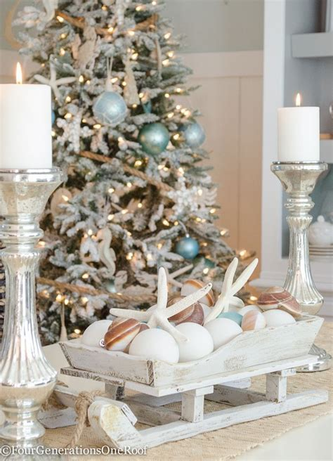 coastal christmas dining room celebrate christmas