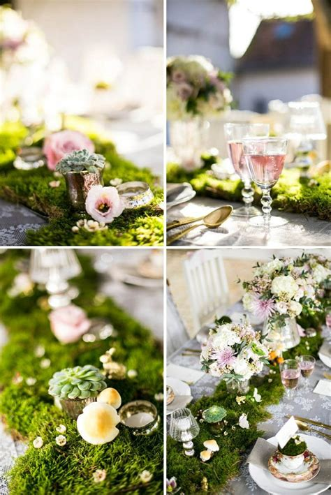 1000 Images About Wedding Moss Table Runner On Pinterest