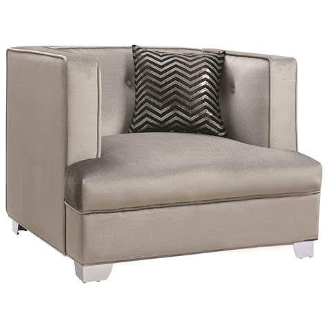 coaster caldwell contemporary upholstered chair and
