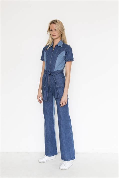 stoned immaculate denim blue jean baby jumpsuit garmentory