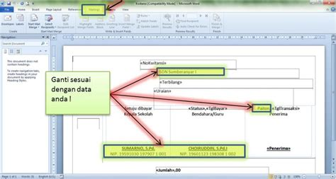 contoh kwitansi bos mail merge in excel 2013 how to use mail merge feature in