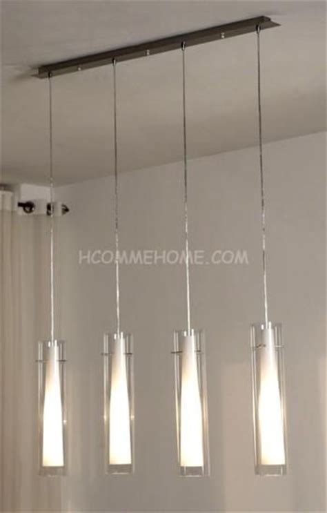 suspension cuisine design luminaire suspension design en nickel chromé verre yona