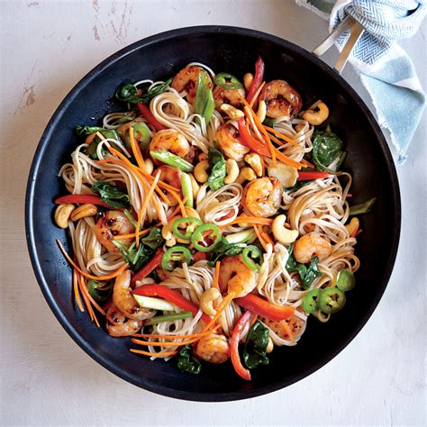 chili garlic shrimp  noodle stir fry recipe myrecipes