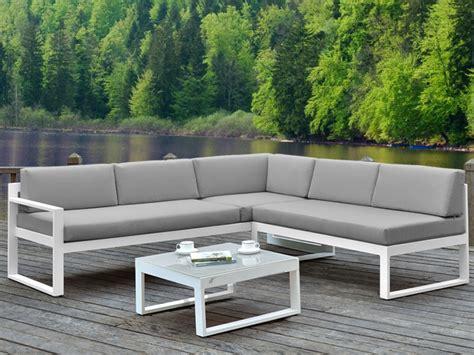 canapé d angle exterieur salon jardin palaos canapé angle relevable table basse