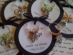 50 95 custom autumn themed wine charm favors weddings With wedding favors wine theme