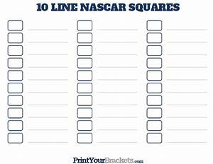 Printable Weekly Football Pool Sheet Printable 10 Line Nascar Square Pool