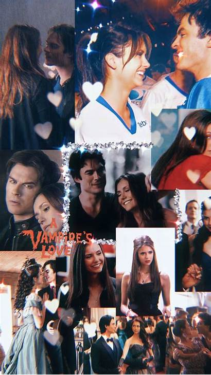 Diaries Vampire Aesthetic Collage Wallpapers Damon Vampier