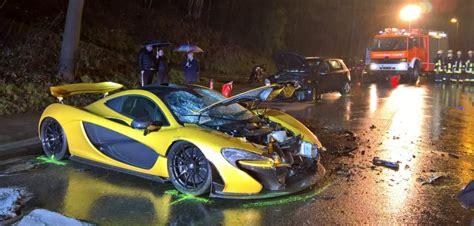 mclaren p1 crash test mclaren p1 crashed in germany injuring two