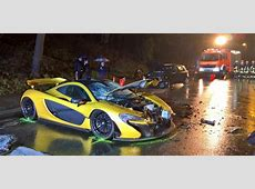 McLaren P1 Crashed In Germany Injuring Two