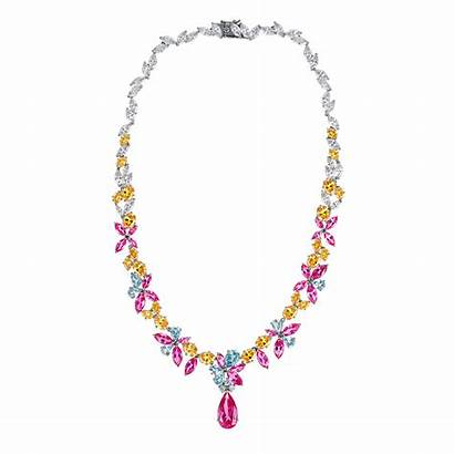 Pink Necklace Jewelry Pendant Georgette Ciro Floral