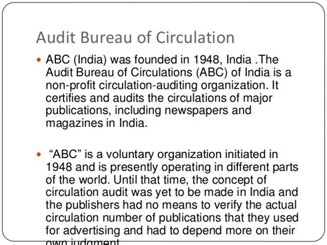 audit bureau of circulations newspapers magazine indian organisations hm
