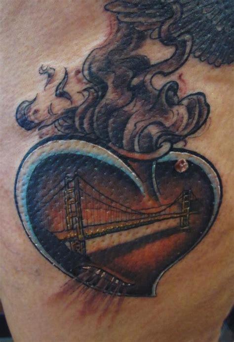 beautiful danenes heart   golden gate bridge