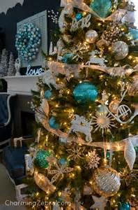 turquoise silver white decor charming zebra making christmas pinterest christmas trees