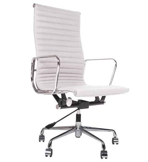 eames style italian leather office chair by i retro