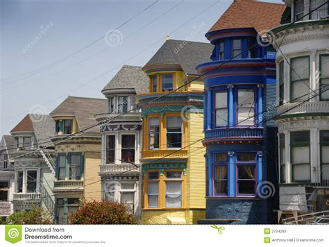 San Francisco Victorian Houses Stock Image