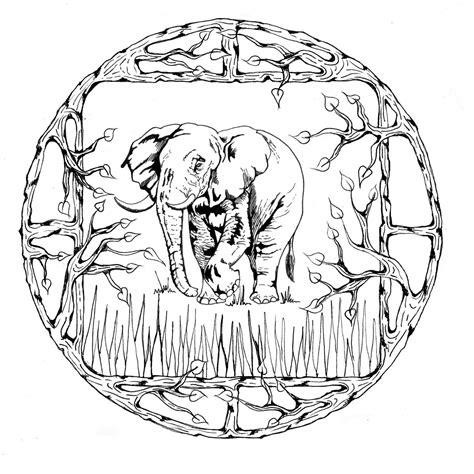 dessin de coloriage mandalas animaux  imprimer cp