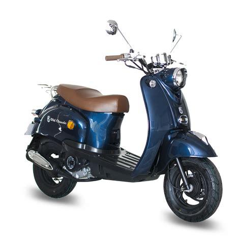 motorroller 25 km h gmx 460 retro classic motorroller 25 km h dunkelblau