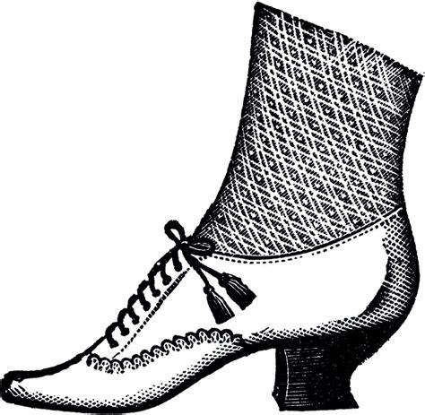 ladies victorian shoe image  graphics fairy