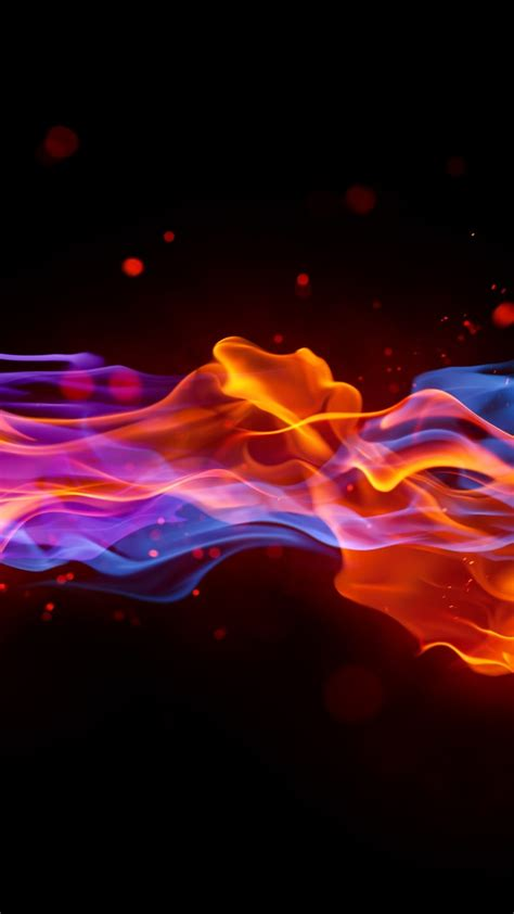wallpaper fire   wallpaper blue red violet