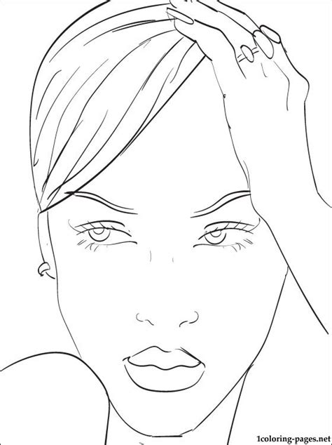 rihanna printable page  color coloring pages