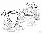 Tadpole Coloring Pages Frog Getcolorings Printable Frogs Cartoon sketch template