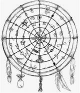 Mandala Coloring Wheel Medicine Indian Rose Celtic Elf Special sketch template