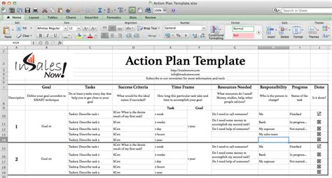 business plan template excel business plan template exle in excel with goal and tasks and success criteria