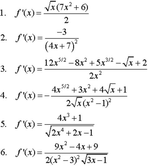 find derivatives  functions  calculus