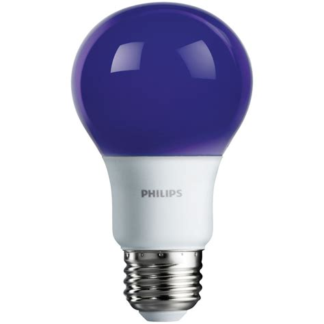 purple a19 led light bulb medium base